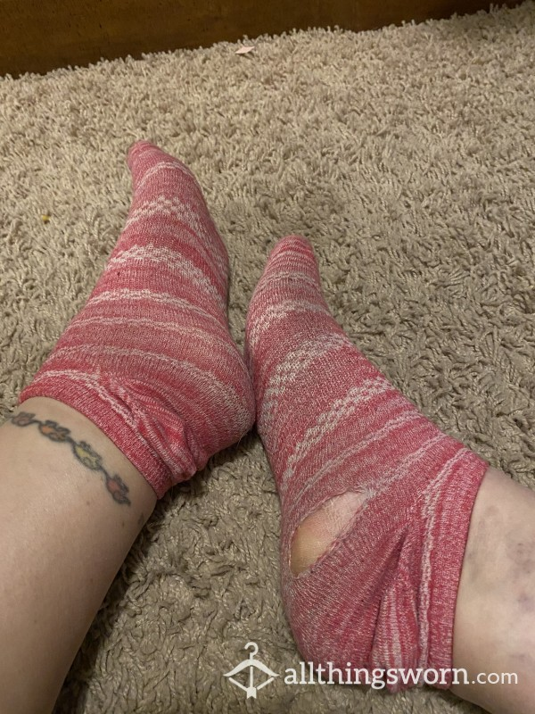 Pink Socks With Holes photo